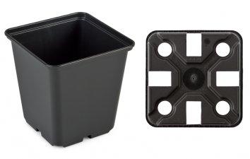 Doniczka Produkcyjna Rozsadowa Czarna 15x15cm Ex 23l