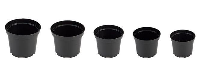 Doniczka Produkcyjna Rozsadowa Czarna 19cm Sbx 3l